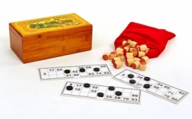 Лото в бамбуковой коробке Hobby World IG-8807, 24x10x7,5 см