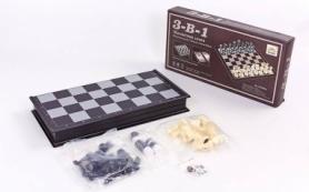 Набор настольных игр 3 в 1 (шахматы, шашки, нарды дорожные пластиковые магнитные) SC9800, 47х47 см
