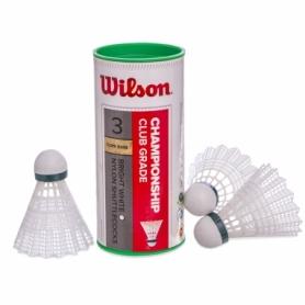 Воланы для бадминтона нейлоновые Wilson Championship, 3 шт (WRT6040)