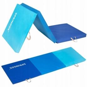 Мат гимнастический складной Springos Blue (FA0063), 180x60x5.5 cм