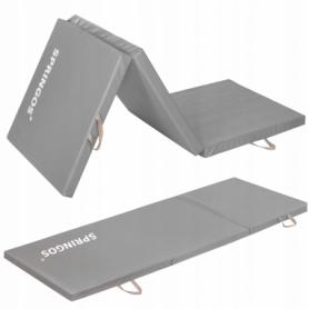 Мат гимнастический складной Springos Grey (FA0062), 180x60x5.5 cм