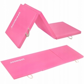 Мат гимнастический складной Springos Pink (FA0061), 180x60x5.5 cм
