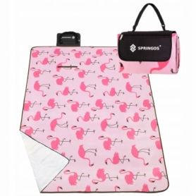 Коврик для пикника и кемпинга складной Springos (PM013) - розовый, 180x150 см