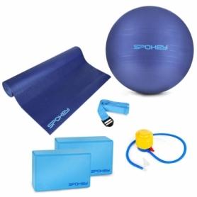 Набор для йоги Spokey Asteya (фитбол, коврик для йоги, блоки для йоги, ремень для йоги) (SL928925)