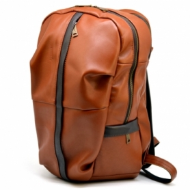 Рюкзак городской кожаный Tarwa (GB-7340-3md), рыжий