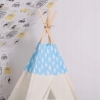 Детская палатка (вигвам) Springos Tipi XXL TIP05 White/Sky Blue - Фото №7