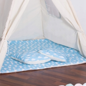 Детская палатка (вигвам) Springos Tipi XXL TIP05 White/Sky Blue - Фото №8