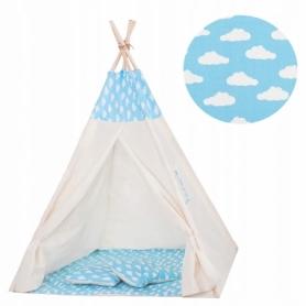 Детская палатка (вигвам) Springos Tipi XXL TIP05 White/Sky Blue - Фото №10