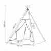 Детская палатка (вигвам) Springos Tipi XXL TIP06 White/Sky Blue - Фото №2