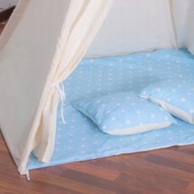 Детская палатка (вигвам) Springos Tipi XXL TIP06 White/Sky Blue - Фото №3