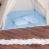 Детская палатка (вигвам) Springos Tipi XXL TIP06 White/Sky Blue - Фото №6