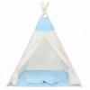 Детская палатка (вигвам) Springos Tipi XXL TIP06 White/Sky Blue - Фото №7