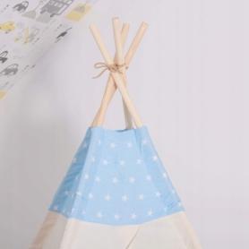 Детская палатка (вигвам) Springos Tipi XXL TIP06 White/Sky Blue - Фото №9