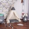 Детская палатка (вигвам) Springos Tipi XXL TIP01 White/Black - Фото №4