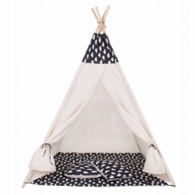 Детская палатка (вигвам) Springos Tipi XXL TIP01 White/Black - Фото №9