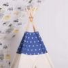 Детская палатка (вигвам) Springos Tipi XXL TIP08 White/Blue - Фото №2