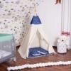 Детская палатка (вигвам) Springos Tipi XXL TIP08 White/Blue - Фото №3