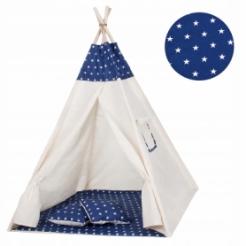 Детская палатка (вигвам) Springos Tipi XXL TIP08 White/Blue - Фото №6