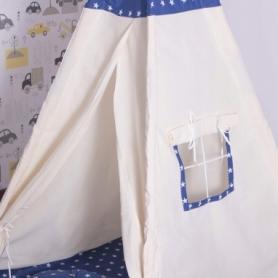 Детская палатка (вигвам) Springos Tipi XXL TIP08 White/Blue - Фото №7