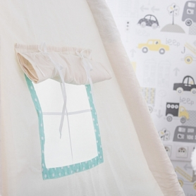 Детская палатка (вигвам) Springos Tipi XXL TIP04 White/Mint - Фото №2