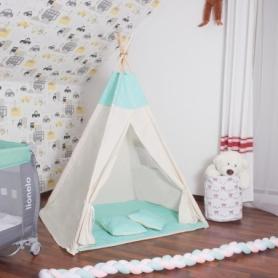 Детская палатка (вигвам) Springos Tipi XXL TIP04 White/Mint - Фото №5