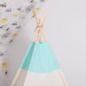 Детская палатка (вигвам) Springos Tipi XXL TIP04 White/Mint - Фото №8