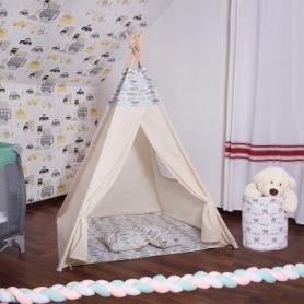Детская палатка (вигвам) Springos Tipi XXL TIP14 White/Mix - Фото №6