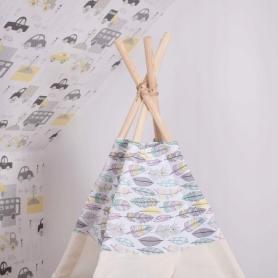 Детская палатка (вигвам) Springos Tipi XXL TIP14 White/Mix - Фото №8