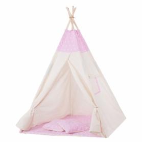 Детская палатка (вигвам) Springos Tipi XXL TIP12 White/Pink