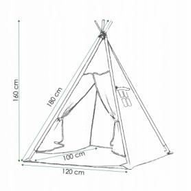 Детская палатка (вигвам) Springos Tipi XXL TIP09 White/Pink - Фото №5