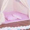 Детская палатка (вигвам) Springos Tipi XXL TIP09 White/Pink - Фото №6