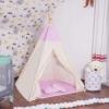 Детская палатка (вигвам) Springos Tipi XXL TIP09 White/Pink - Фото №7