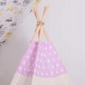 Детская палатка (вигвам) Springos Tipi XXL TIP09 White/Pink - Фото №10