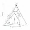 Детская палатка (вигвам) Springos Tipi XXL TIP07 White/Grey - Фото №2