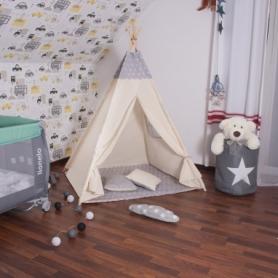 Детская палатка (вигвам) Springos Tipi XXL TIP07 White/Grey - Фото №3