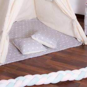 Детская палатка (вигвам) Springos Tipi XXL TIP07 White/Grey - Фото №4