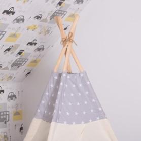 Детская палатка (вигвам) Springos Tipi XXL TIP07 White/Grey - Фото №5