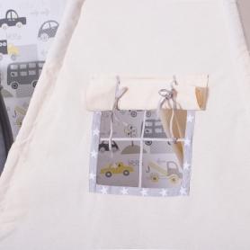 Детская палатка (вигвам) Springos Tipi XXL TIP07 White/Grey - Фото №9