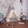 Детская палатка (вигвам) Springos Tipi XXL TIP02 White/Black - Фото №4