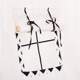 Детская палатка (вигвам) Springos Tipi XXL TIP02 White/Black - Фото №7