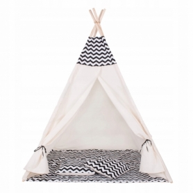 Детская палатка (вигвам) Springos Tipi XXL TIP02 White/Black - Фото №10