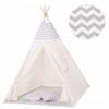 Детская палатка (вигвам) Springos Tipi XXL TIP03 White/Grey - Фото №4