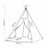 Детская палатка (вигвам) Springos Tipi XXL TIP03 White/Grey - Фото №5