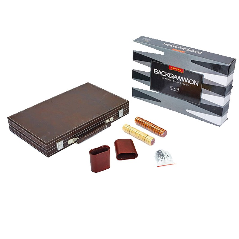 Нарды Zoocen Backgammon PU B1518, 39x39 см