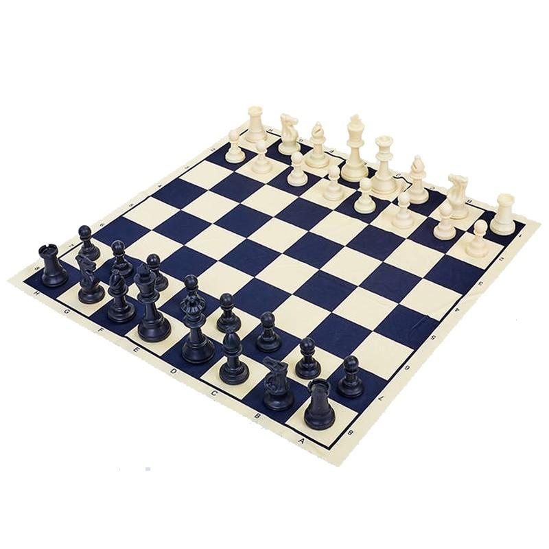 Шахматные фигуры пластиковые с полотном для игр P401, 5 см