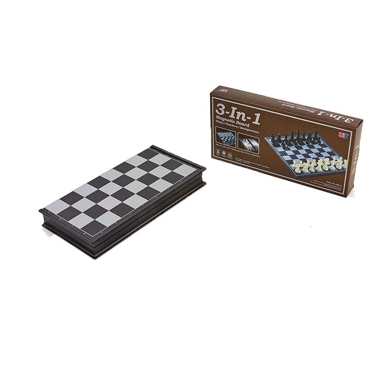 Набор настольных игр 3 в 1 (шахматы, шашки, нарды дорожные пластиковые магнитные) IG-38810, 25 x 25 см