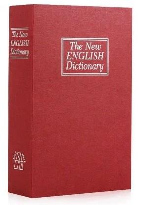 Книга сейф CDRep Английский словарь (FO-124114) - бордовая, 18 см