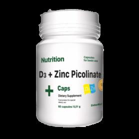 Витаминно-минеральный комплекс EntherMeal D3 + Zinc Picolinate ABPR83, 60 капсул