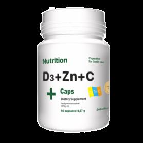 Комплекс витаминов и минералов EntherMeal D3 + Zinc + С,  60 капсул (ABPR84)