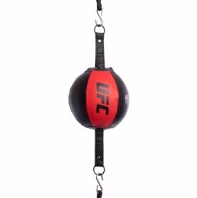Груша пневматическая круглая на растяжках UFC UHK-69749, красная